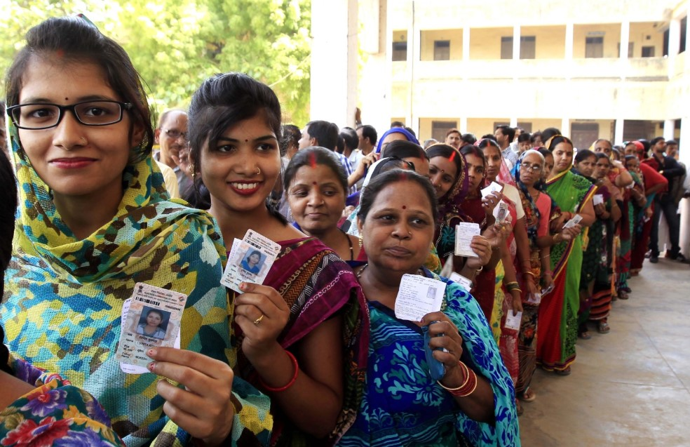 Election day in India